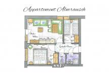 Alpen Hit Appartements Saalbach | Appartement Almrausch